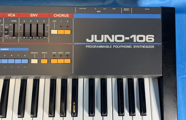 Roland Juno-106 Programmable Polyphonic Synthesizer Keyboard/Synth Fuzz Audio