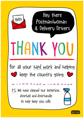 Postie Thank You Poster