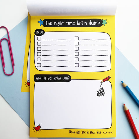 The nighttime brain dump A5 notepad - the-poppy-lane