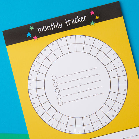 Monthly Tracker A5 notepad