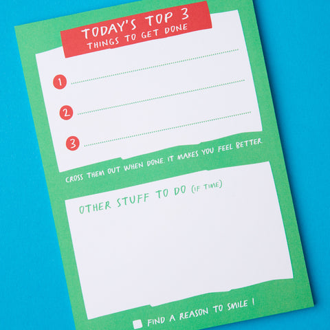 Top 3 things To Do Notepad