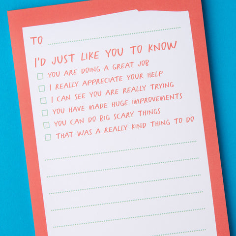 Appreciation Notepad