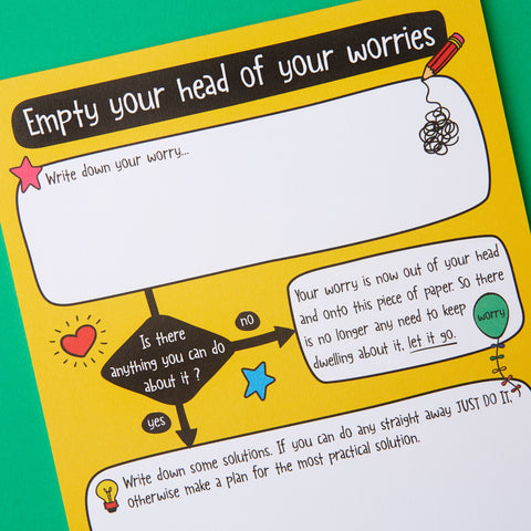 Empty your head of worries A5 notepad