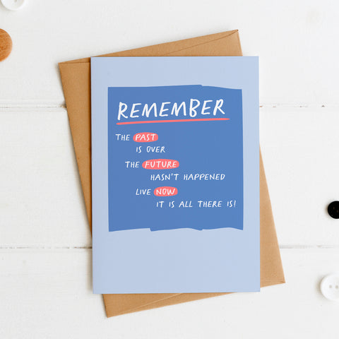 Remember Past/Future/Now Postcard