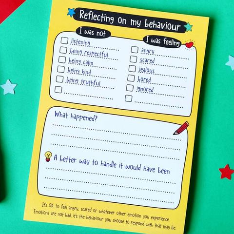 Reflect on your behaviour A5 notepad
