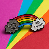 Storms Don't Last Forever Rainbow Pin - the-poppy-lane