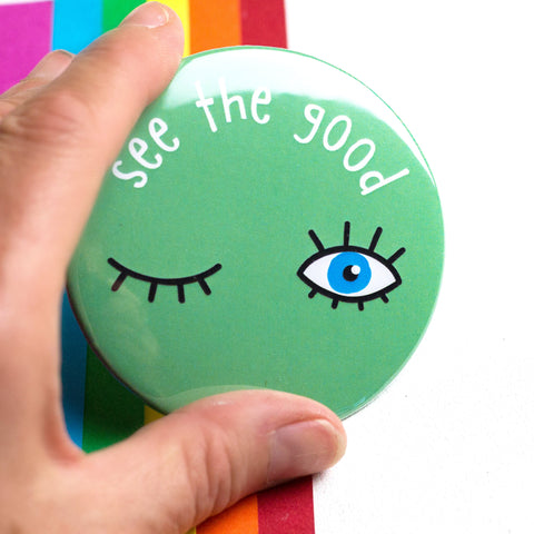 Positive Message Pocket Mirror | Gift for Teacher | Token Gift | See The Good | Positivity - the-poppy-lane