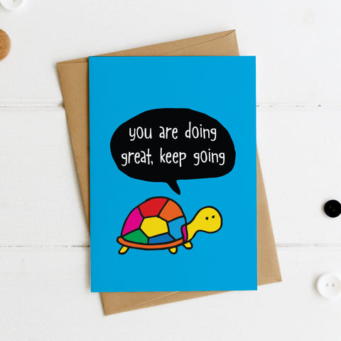 You are Doing Great Keep Going postcard - the-poppy-lane
