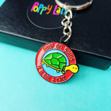 Keep going enamel keyring - the-poppy-lane
