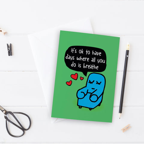 It's ok to just breathe Thinking of You Card - the-poppy-lane