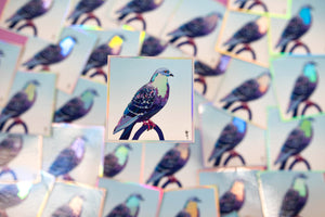 Stool Pigeon - Holographic Sticker