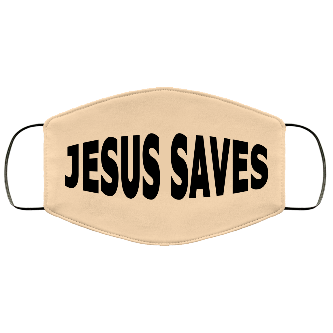 Jesus Saves Face Mask (light colors)