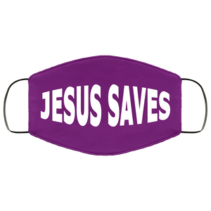 Jesus Saves Face Mask (dark colors)