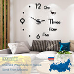 diy large wall clock