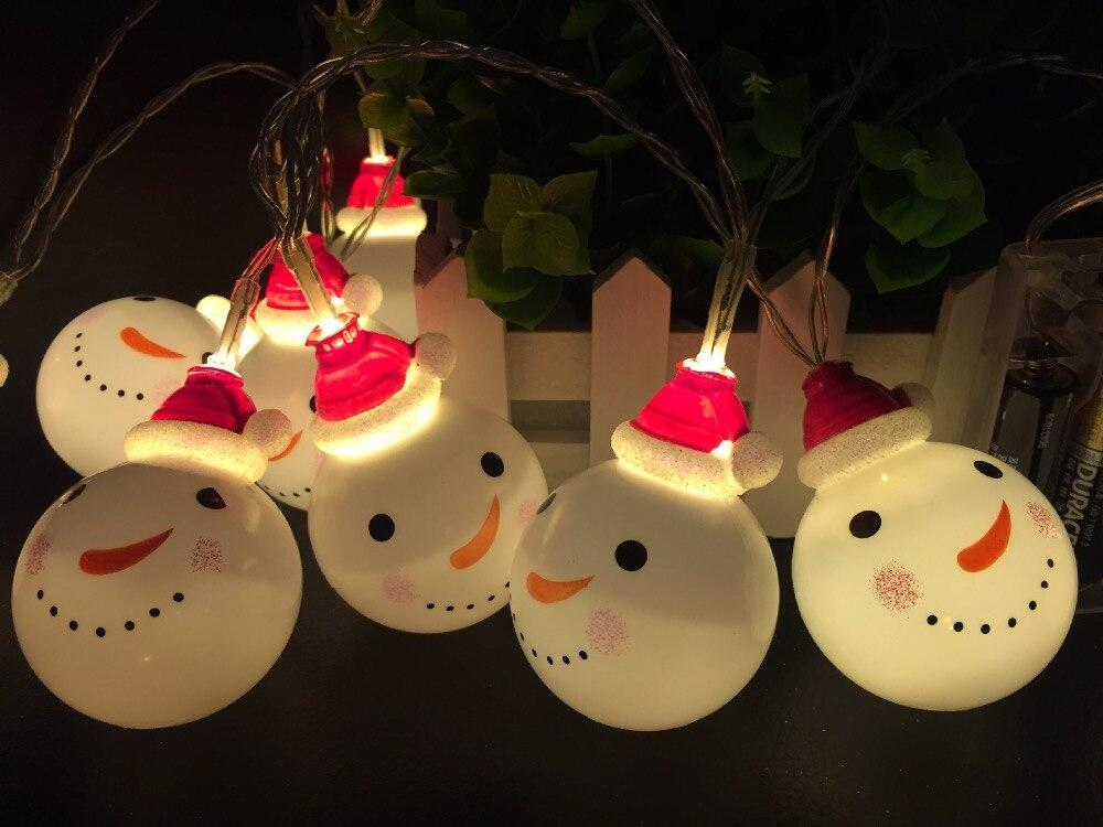 christmas snowman fairy led twinkle lights