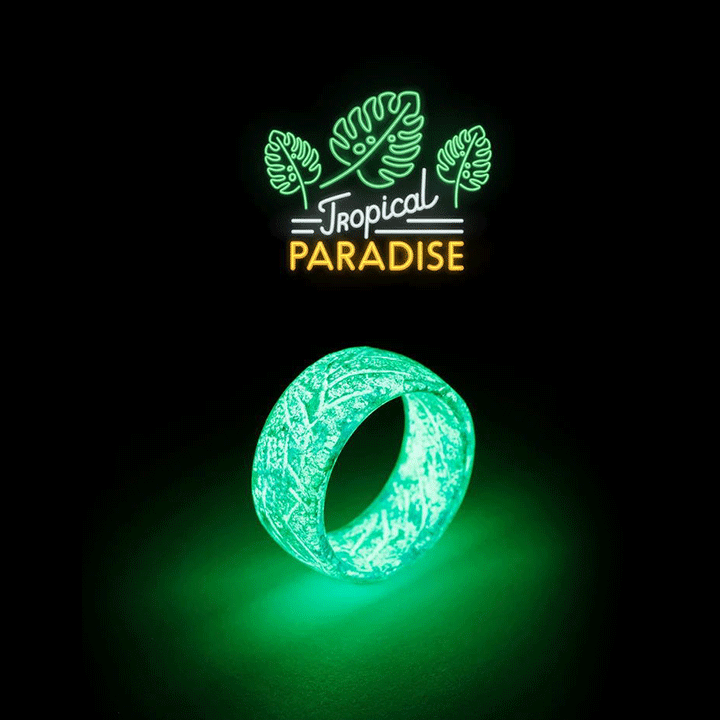 glowing resin ring