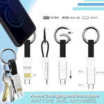 3 in 1 smart cable magnetic keychain