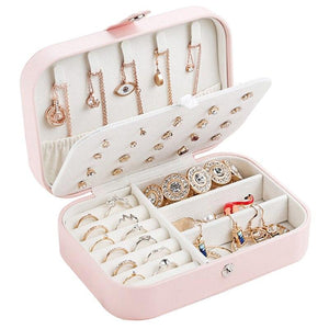 3-layer jewelry organizing leather case