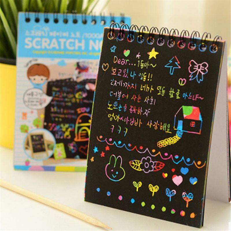 scratch and sketch painting book
