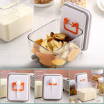 popnpush airtight multifunctional food container