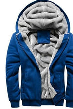 men velvet hooded cardigan sweater