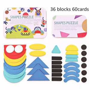wooden pattern block set