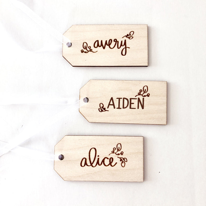 Custom Holiday Gift Tags