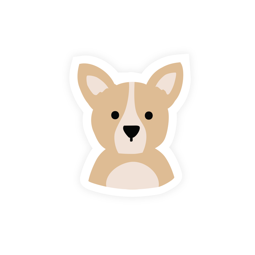 Currently Thinking About My Dog Sticker