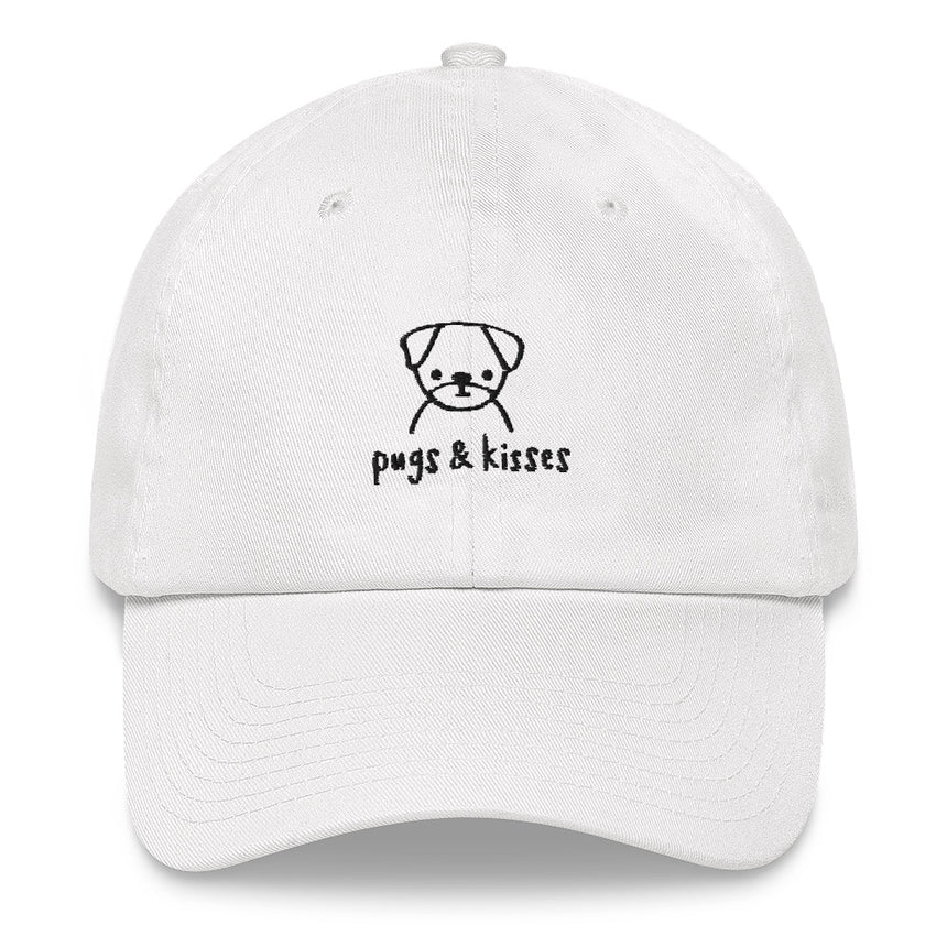 Pugs & Kisses Embroidered Hat