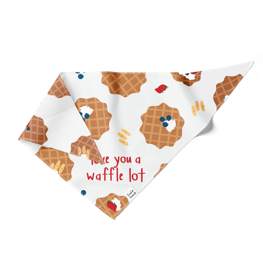 Love You a Waffle Lot Pun Bandana