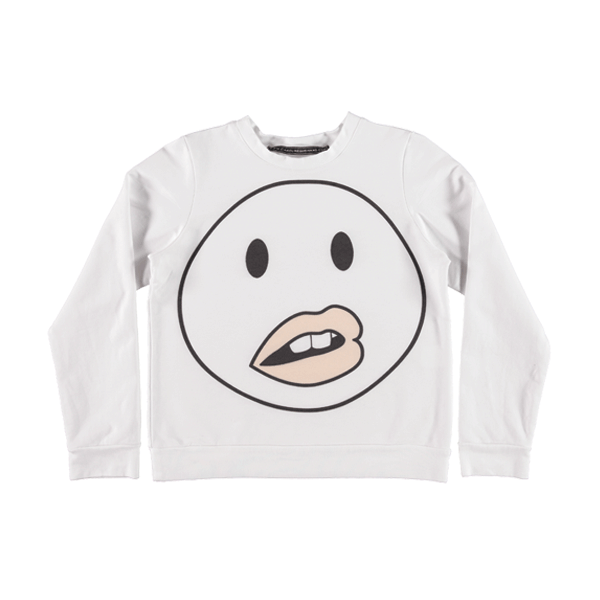 Wonder Lips Sweatshirt ▲ White