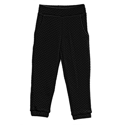 Shock Quilted Sweatpants ▲ Black