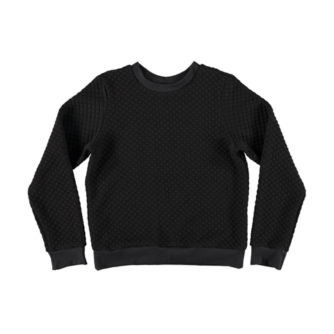 Wonder Quilted Sweatshirt ▲ Black