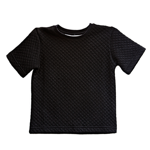 Awe Quilted Tshirt ▲ Black