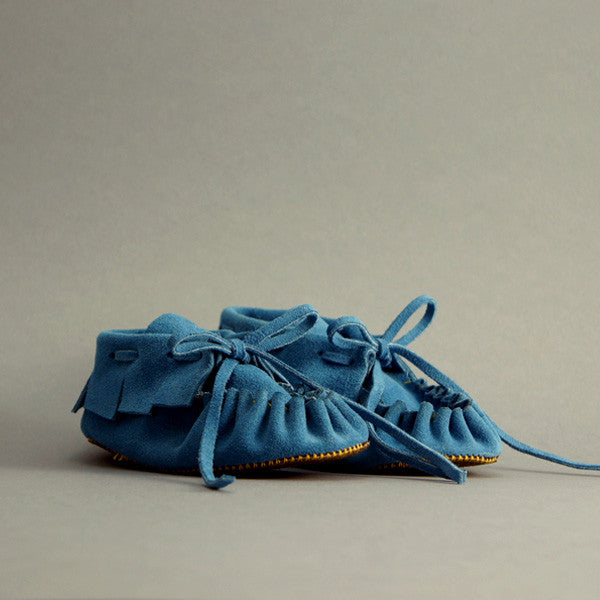 Toddler/Child Fringe Moccasin ▲ Big Sky Blue