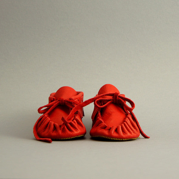 Toddler/Child Fringe Moccasin ▲ Poinsettia Red