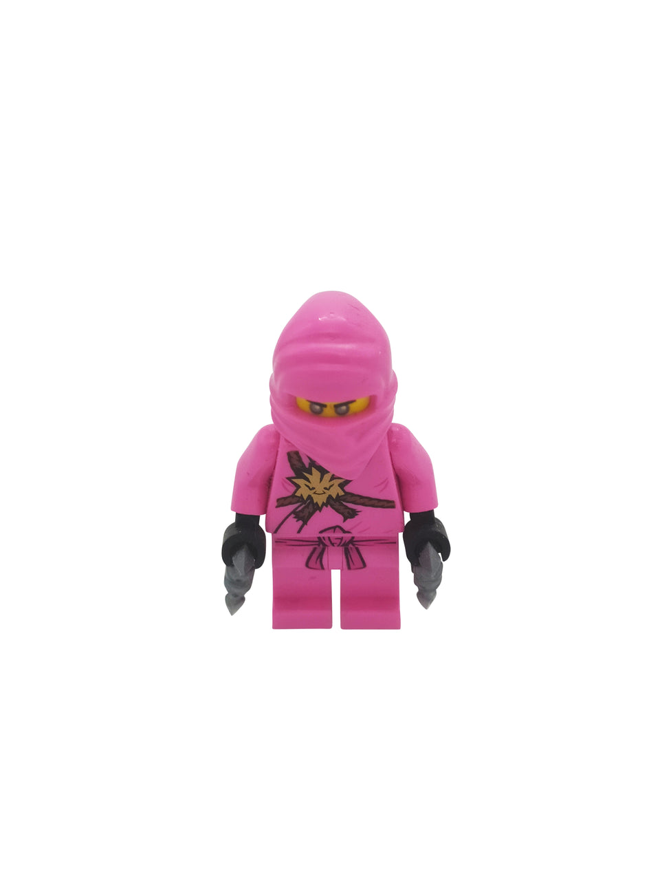 zane In a pink Lego Ninga suit