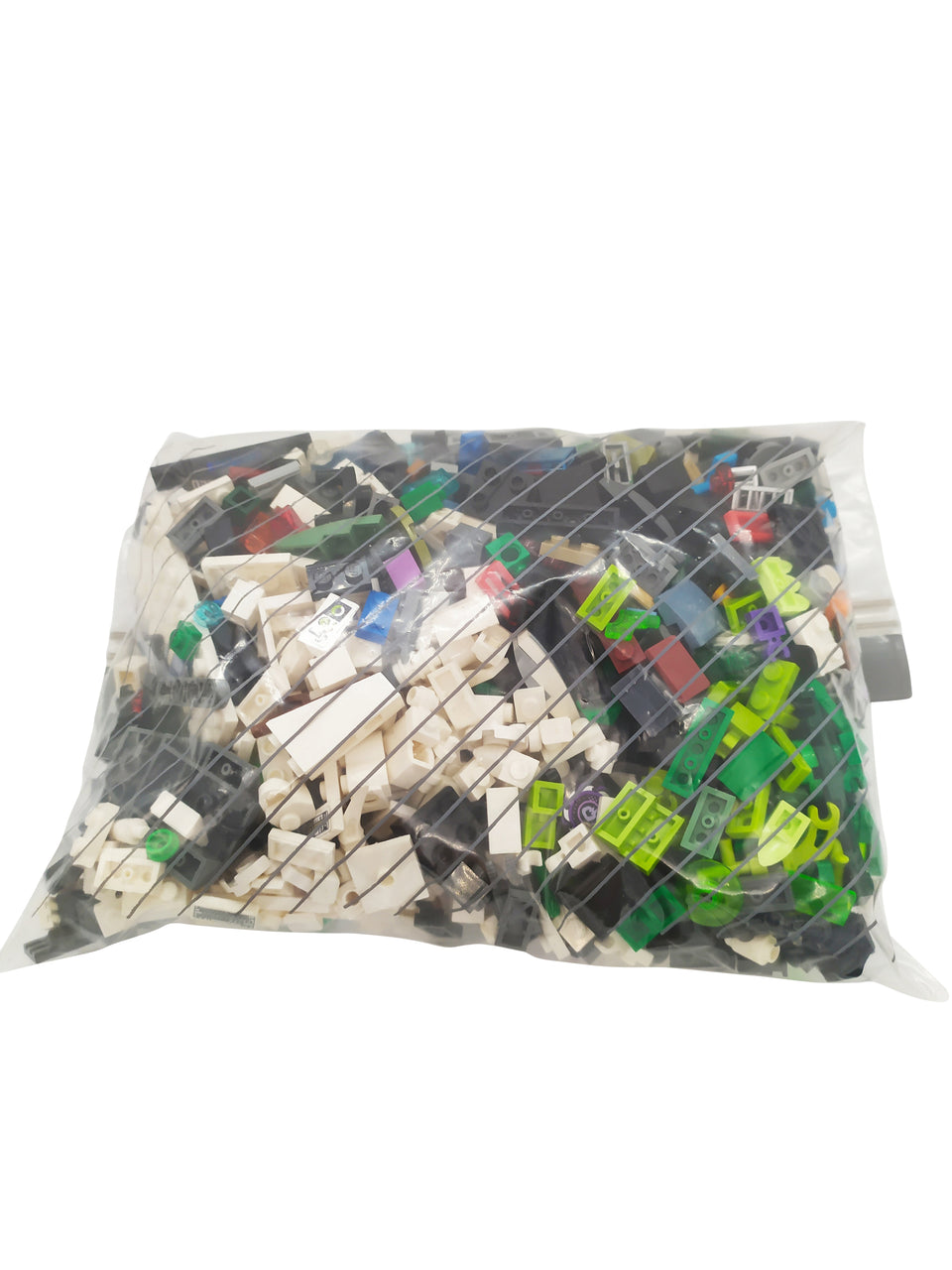 1-pound mix of Lego pieces in various colors and sizes