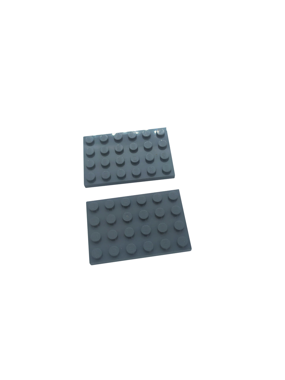 2 dark grey  color surface 6 * 4 - Lego