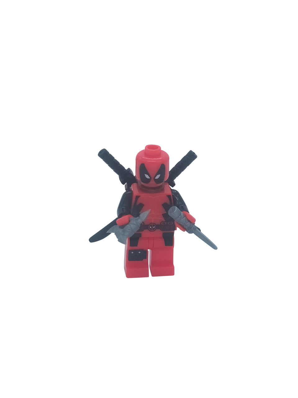 deadpool minifigure with accessories  - lego