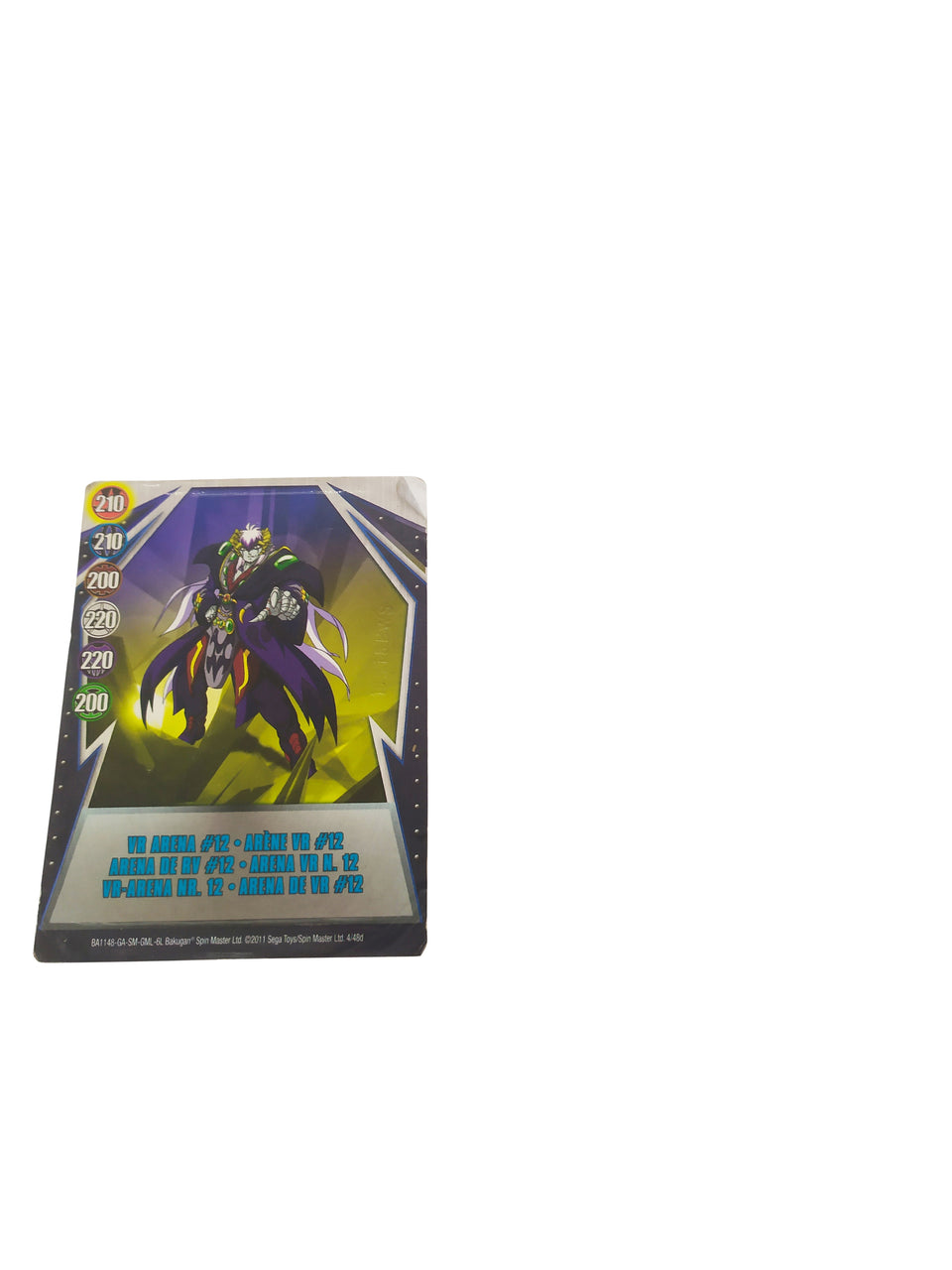 BAKUGAN BATTLE BRAWLERS - COLOR RED- special , 2011 , vr arena