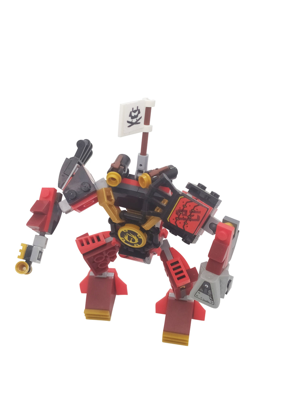 special set of Lego Ninjago Red Robot Suit