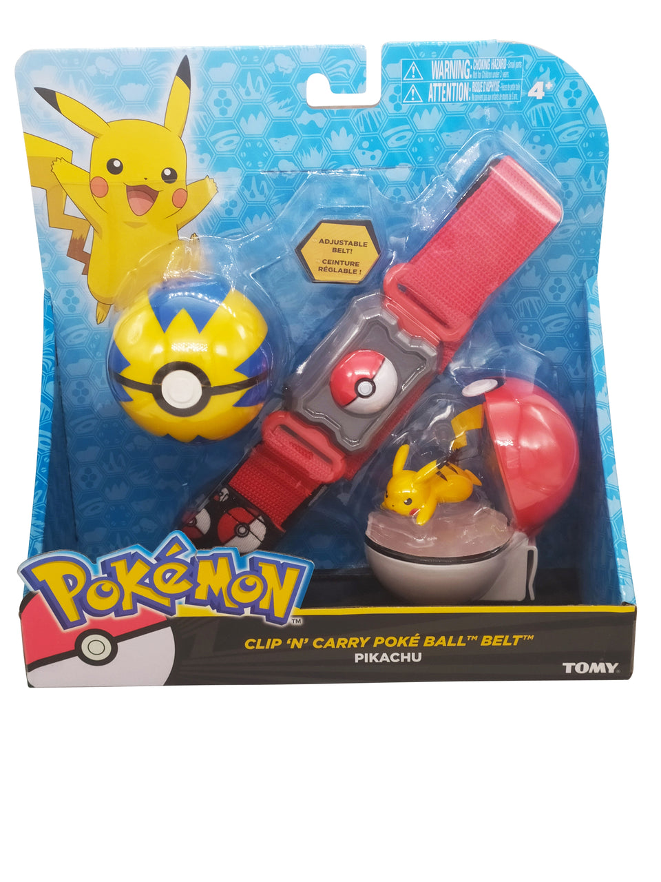 pokemon clip and poke ball with pikachu figure