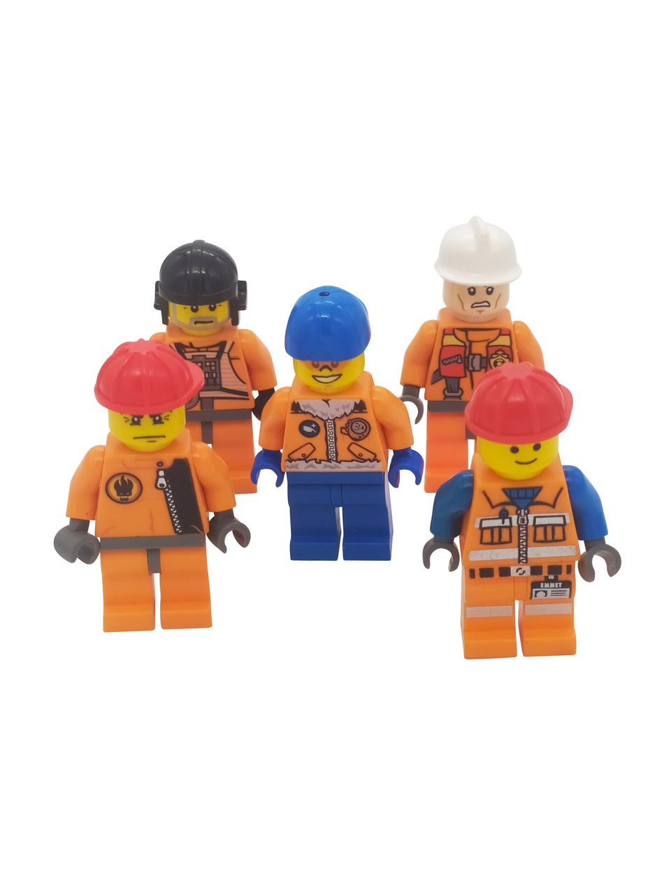 5 Lot Special orange Lego Minifigures