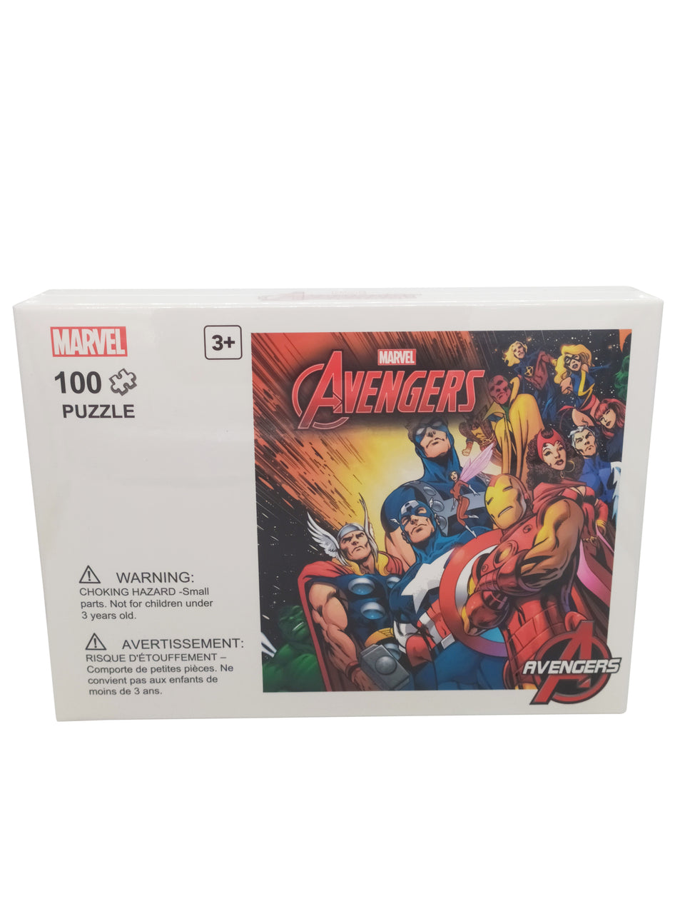 marvel puzzle 100 piece - avengers - action scene