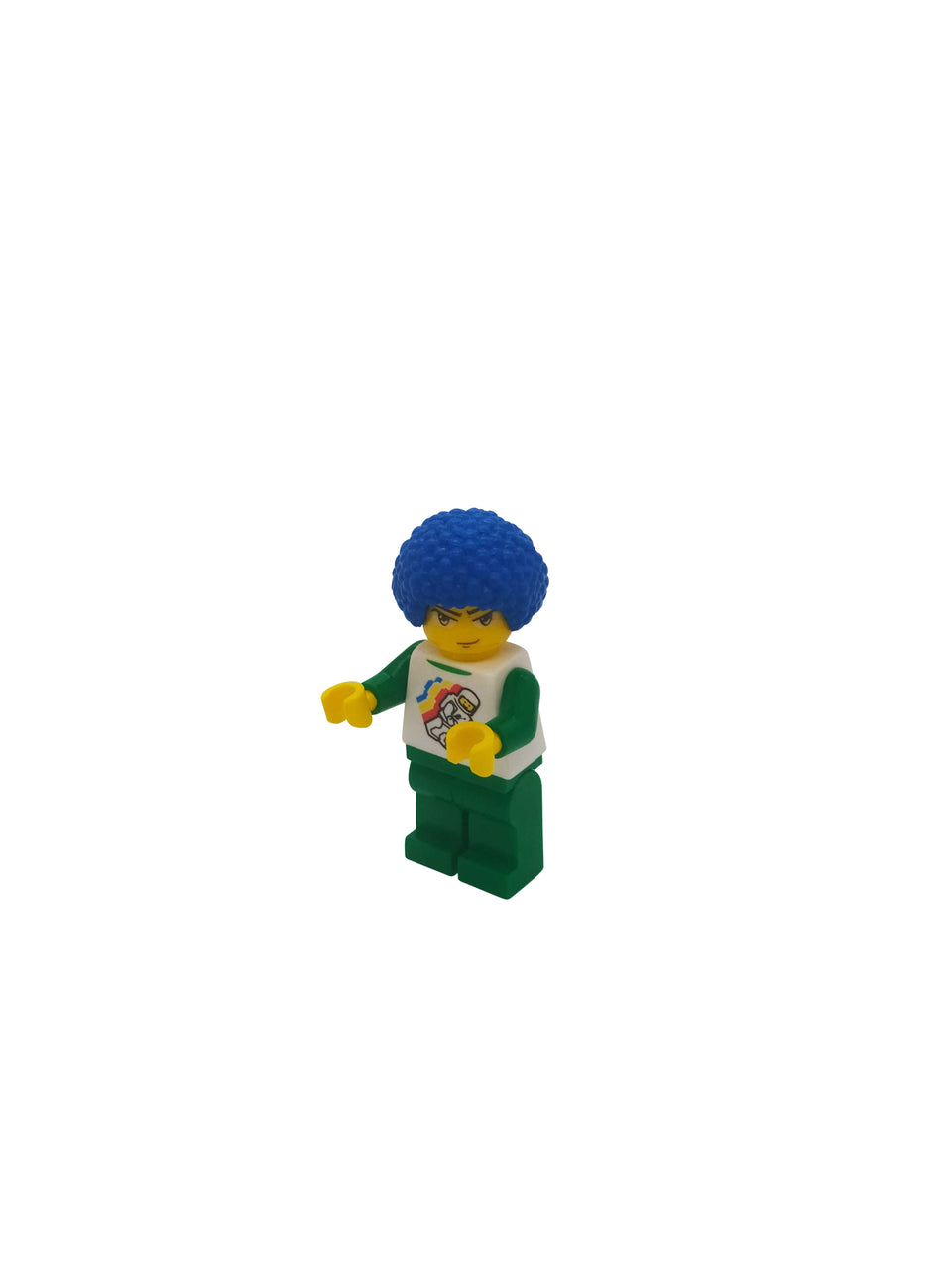 blue hair figure - lego