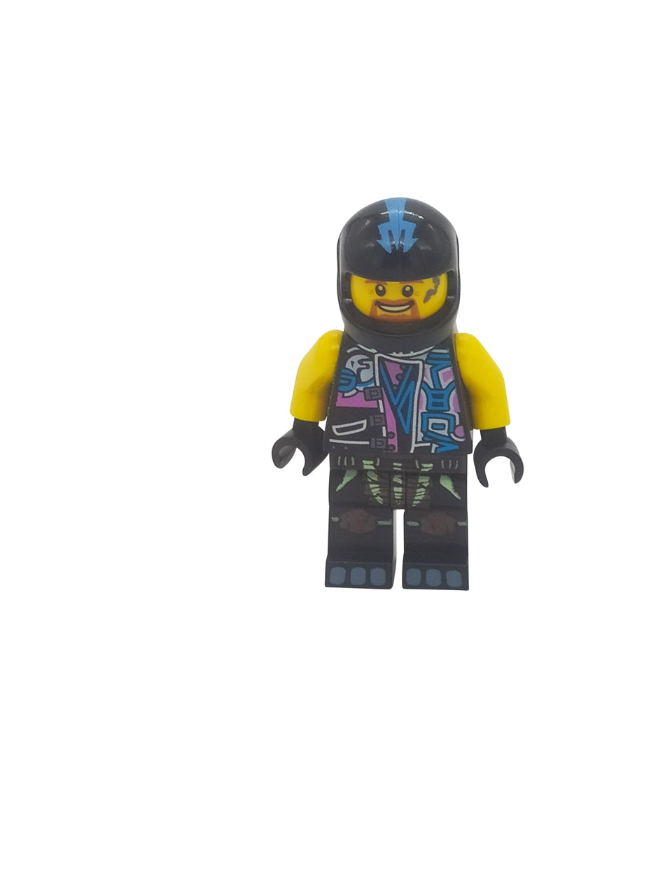 Cool character with black helmet - Lego