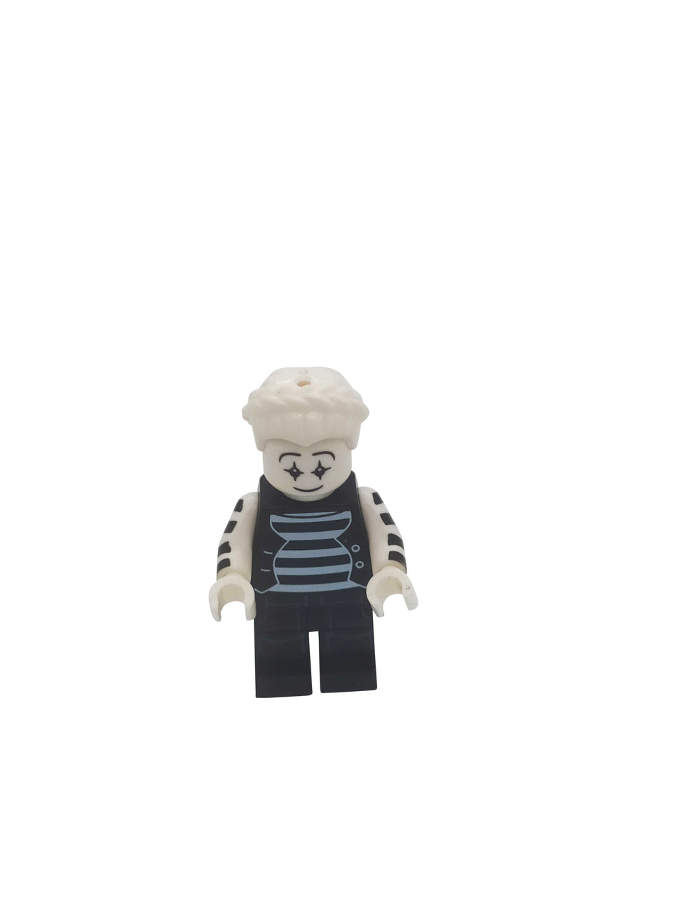 minifigure with a black and white suit with white hair - Lego