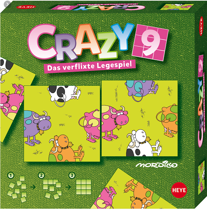puzzle crazy 9 cows pic Heye 9 pieces