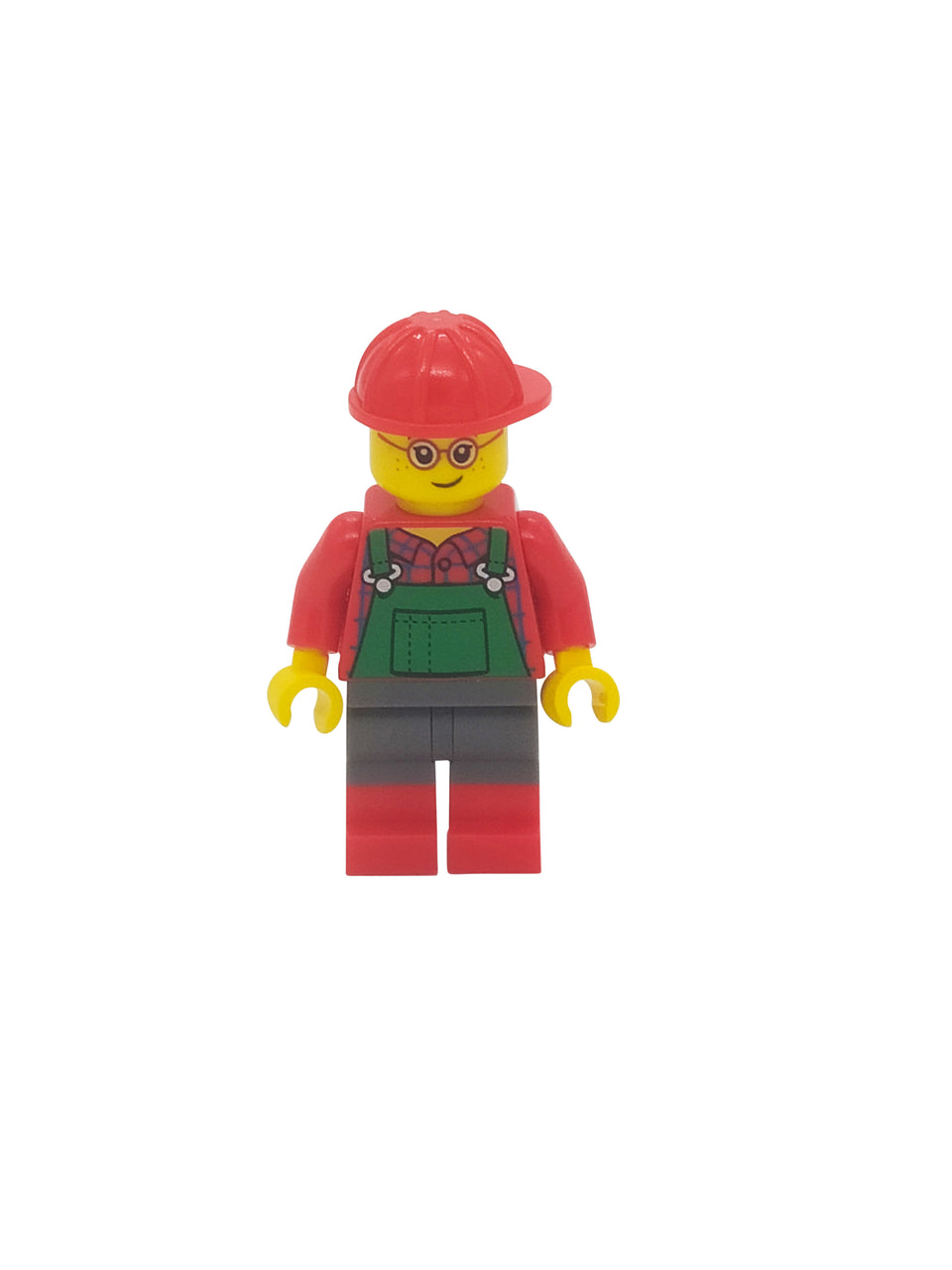 Handyman figure with a cool red Lego hat
